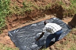 The Water Project: Maraba Community, Shisia Spring -  Preparing The Foundation