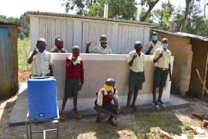 The Water Project: Wavoka Primary School -  Boys Posing At Their New Latrines