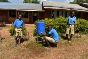 The Water Project: Kitagwa Primary School -  Using A New Handwashing Point