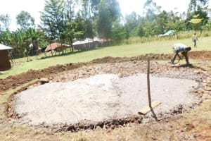 The Water Project: St. Peter's Ebunga'le Primary School -  Pouring Concrete Foundatiion