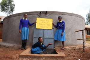 The Water Project: Kitagwa Primary School -  Students Celebrate At The Rain Tank