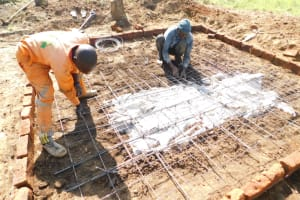 The Water Project: St. Peter's Ebunga'le Primary School -  Setting Up Latrine Foundation