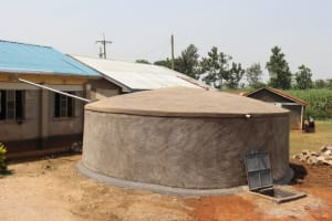 The Water Project: Mwikhupo Primary School -  Completed Rain Tank