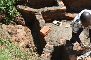 The Water Project: Maraba Community, Shisia Spring -  Building The Headwall