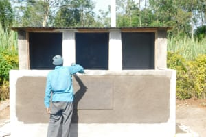 The Water Project: St. Peter's Ebunga'le Primary School -  Working On The Latrines