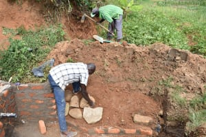 The Water Project: Maraba Community, Shisia Spring -  Stone Pitching