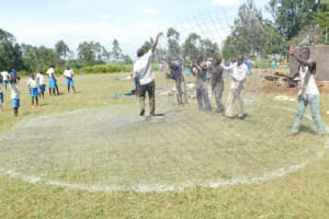 The Water Project: St. Peter's Ebunga'le Primary School -  Preparing Dome Wire
