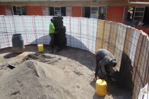 The Water Project: Kitagwa Secondary School -  Interior Plaster Begins
