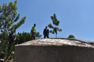 The Water Project: Kitagwa Secondary School -  Dome Underway