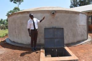 The Water Project: Kitagwa Secondary School -  Brian At The Rain Tank