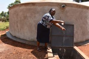 The Water Project: Kitagwa Secondary School -  Madam Katsiiri Celebrating Water On Campus
