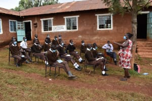 The Water Project: Kitagwa Secondary School -  Trainer Leading A Session