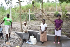 The Water Project: Makhwabuyu Community, Sayia Spring -  Happy Women Pose At The Spring