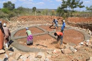 The Water Project: Kaketi Secondary School -  Foundation Work