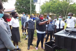 The Water Project: Kaketi Secondary School -  Handwashing Lesson