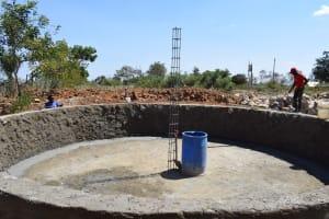 The Water Project: Kaketi Secondary School -  Inside Tank
