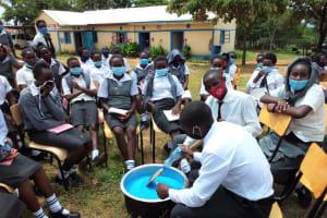 The Water Project: Kaketi Secondary School -  Mixing Soap