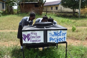 The Water Project: Kaketi Secondary School -  New Handwashing Stations