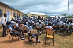 The Water Project: Kaketi Secondary School -  Students At The Hygiene Training