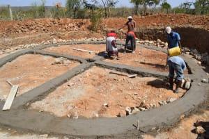 The Water Project: Kaketi Secondary School -  Tank Foundation Work