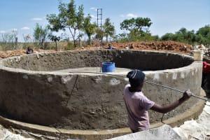 The Water Project: Kaketi Secondary School -  Tank Wall Progress