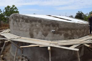 The Water Project: Kaketi Secondary School -  Tank With New Roof
