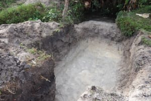 The Water Project: Kalenda A Community, Moro Spring -  Excavated Site Ready For Setting The Foundation