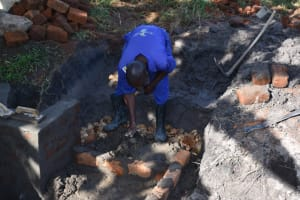 The Water Project: Kalenda A Community, Moro Spring -  Laying The Foundation For The Stairs