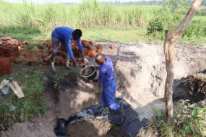 The Water Project: Kalenda A Community, Moro Spring -  Laying The Foundation