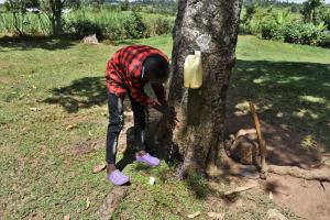 The Water Project: Kalenda A Community, Moro Spring -  A Boy Demonstrating Handwashing