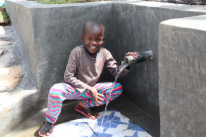 The Water Project: Kalenda A Community, Moro Spring -  Samwel At The Spring