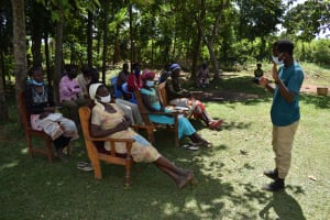 The Water Project: Kalenda A Community, Moro Spring -  Sir Ian Leading The Training Session