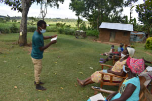 The Water Project: Kalenda A Community, Moro Spring -  Mask Making Demonstration