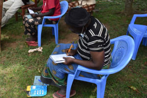 The Water Project: Kalenda A Community, Moro Spring -  Taking Notes At Training