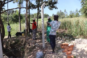 The Water Project: Luyeshe Community, Khausi Spring -  Fencing