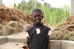 The Water Project: Luyeshe Community, Khausi Spring -  Betty At The Spring