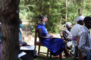 The Water Project: Luyeshe Community, Khausi Spring -  Everlyne Taking Notes During The Training Session