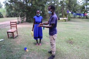 The Water Project: Luyeshe Community, Khausi Spring -  Handwashing Demonstration