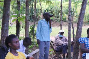 The Water Project: Luyeshe Community, Khausi Spring -  Jacob Khausi Addresses The Group