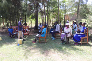 The Water Project: Luyeshe Community, Khausi Spring -  Trainer Ian Leads The Dental Hygiene Session