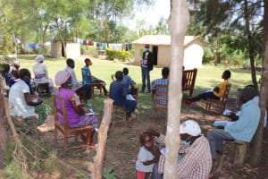 The Water Project: Luyeshe Community, Khausi Spring -  Training In Session