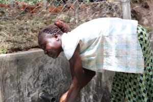 The Water Project: Luyeshe Community, Khausi Spring -  Washing Her Hands