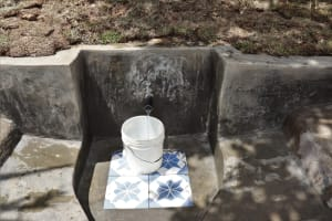The Water Project: Luyeshe Community, Khausi Spring -  Clean Water Flows At Khausi Sping