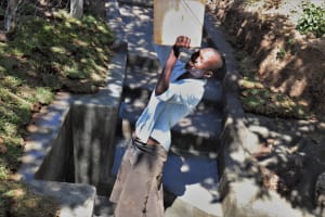 The Water Project: Luyeshe Community, Khausi Spring -  Happy Fetching Clean Water