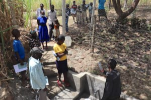 The Water Project: Luyeshe Community, Khausi Spring -  Site Management Training At The Spring