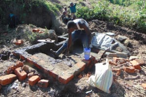 The Water Project: Indulusia Community, Osanya Spring -  Stairs Construction