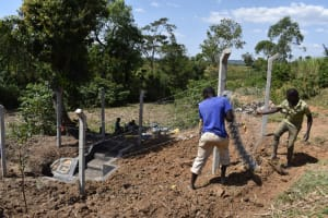 The Water Project: Indulusia Community, Osanya Spring -  Fencing