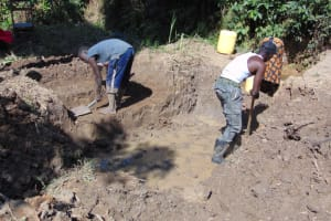 The Water Project: Indulusia Community, Osanya Spring -  Excavation At The Site