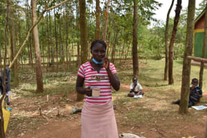The Water Project: Indulusia Community, Osanya Spring -  Demonstrating Toothbrushing