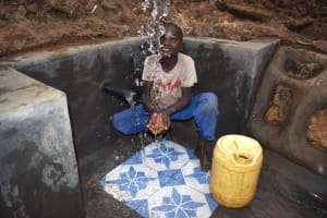 The Water Project: Indulusia Community, Osanya Spring -  Evason Makes A Splash